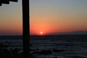 伊豆大島,夕陽